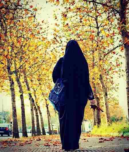 عکس کارتونی دختر با چادر