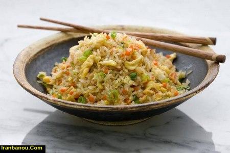 طرز تهیه پلو چینی با سبزیجات