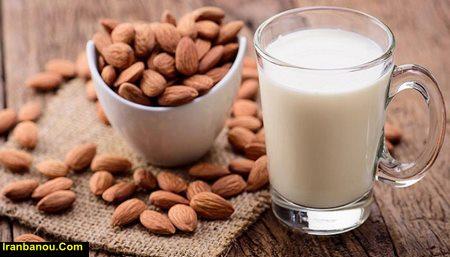 مضرات شیر بادام