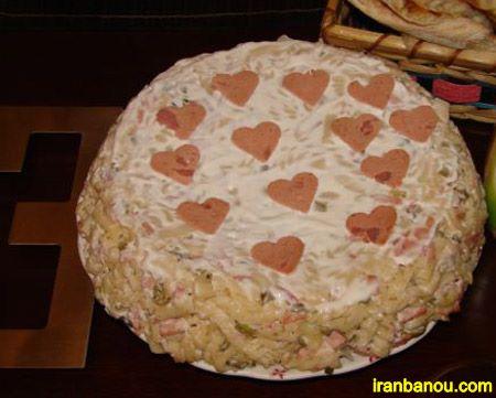 کیک سالاد ماکارونی