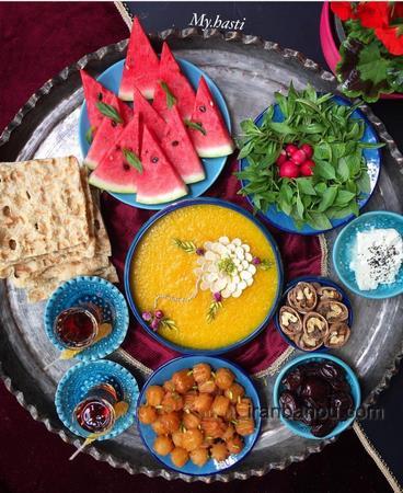 تزیین زولبیا بامیه افطار