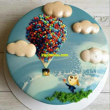 تزیین کیک با خامه و شکلات