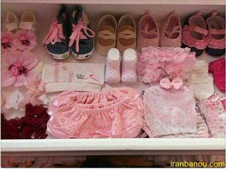 چیدمان سیسمونی نوزاد دختر