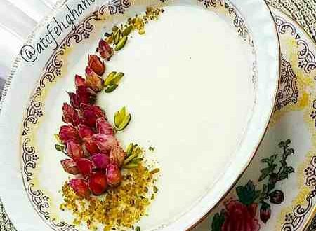 تزیین فرنی با دارچین و ژله و گل محمدی 98 و 2019