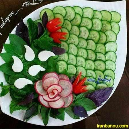 کیک نون و پنیر و سبزی