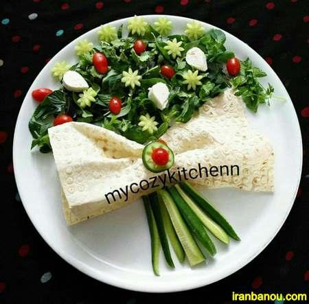 کیک نون پنیر سبزی