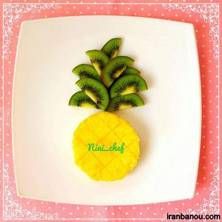 تزیین میوه برای تولد بچه ها