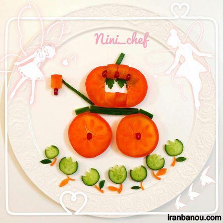 تزیین میوه کودکانه