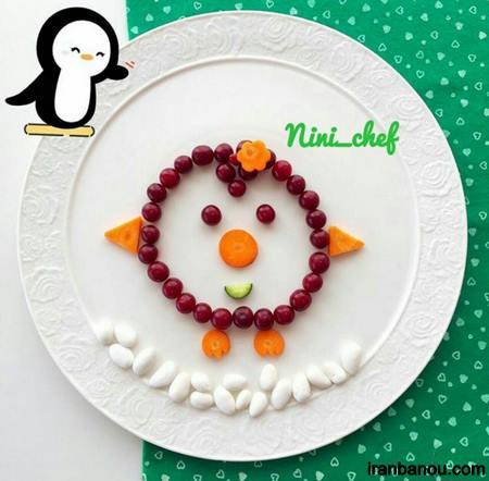 تزیین ساده میوه برای کودکان