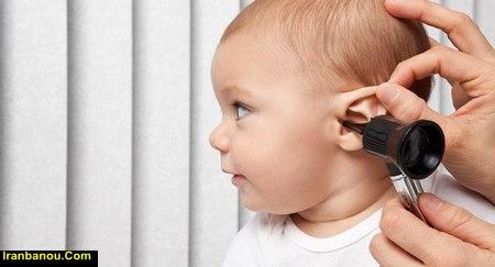 علائم گوش درد نوزاد