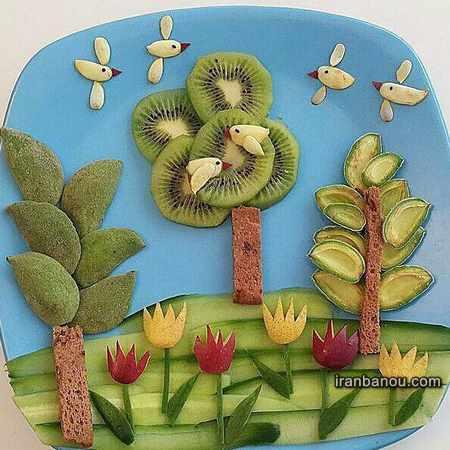تزیین میوه برای مهد کودک