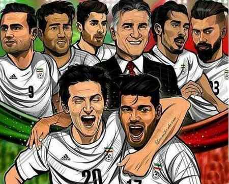 عکسنوشته حمایت از تیم ملی