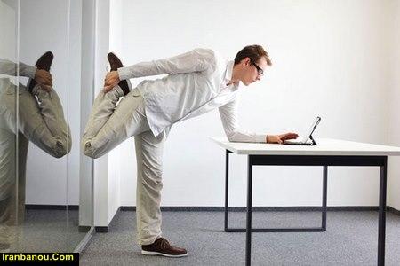 ورزش شکم در محل کار