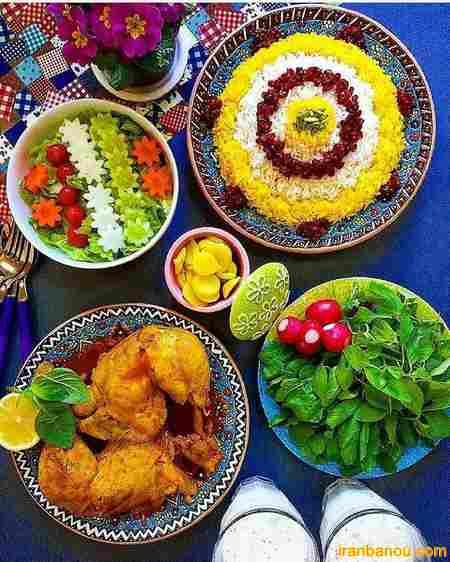 تزیین انواع غذا ها