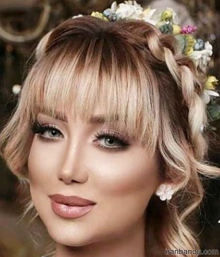 مدل مو عروس با گل
