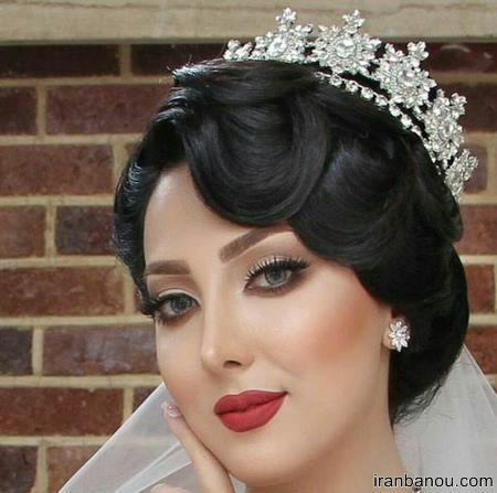 مدل مو عروس با تاج