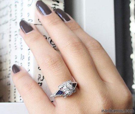 حلقه عروسی نگینی
