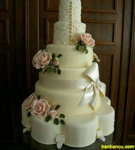 مدل کیک عروسی یک طبقه
