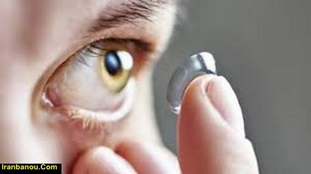گذاشتن لنز طبی در چشم