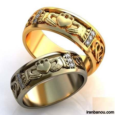مدل حلقه ست عروس و داماد