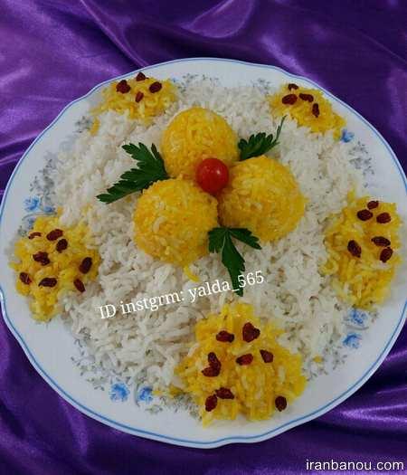 تزیین برنج با زرشک