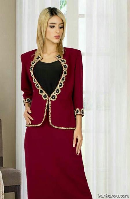 مدل کت و دامن بلند مجلسی زنانه