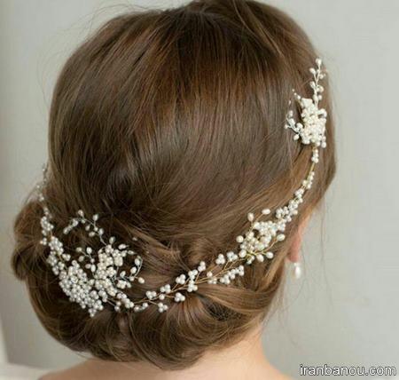 مدل مو با تاج عروس