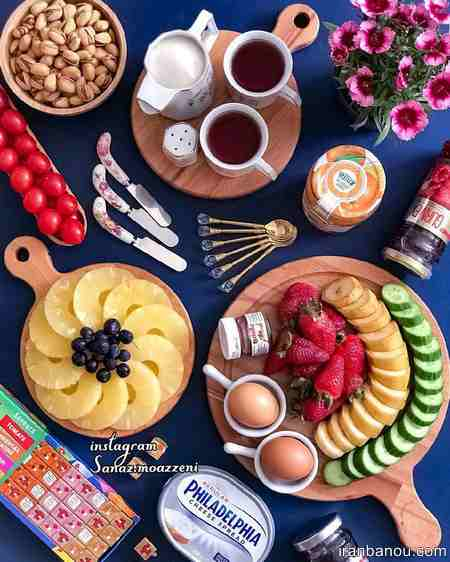 تزیین صبحانه کودک با پنیر