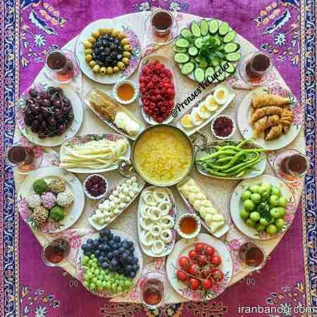 تزیین خیار و گوجه برای افطار