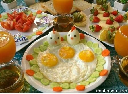 تزیین صبحانه سلامت