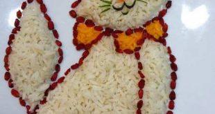 تزيين کتلت با برنج