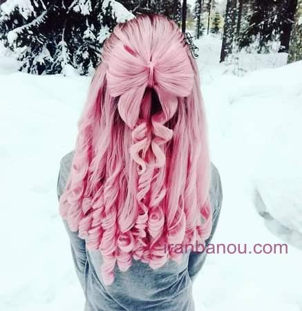 رنگ فانتزی روی موی مشکی