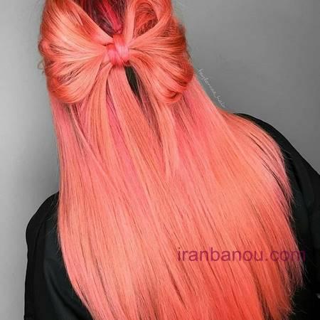 رنگ موی فانتزی صورتی