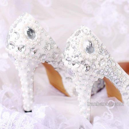 مدل کفش عروس پر کار