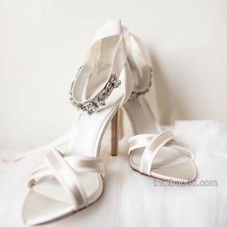 کفش عروس لژدار زیبا