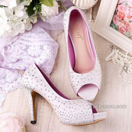 کفش عروس پاشنه کوتاه جذاب