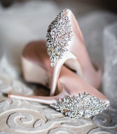 مدل کفش عروس بدون پاشنه جدید