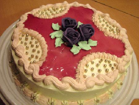 تزیین کیک ساده,تزیین کیک اسفنجی
