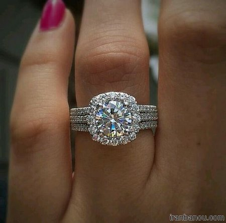 حلقه دو تکه عروس