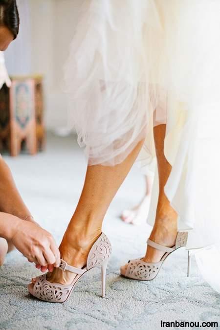مدل کفش عروس بدون پاشنه