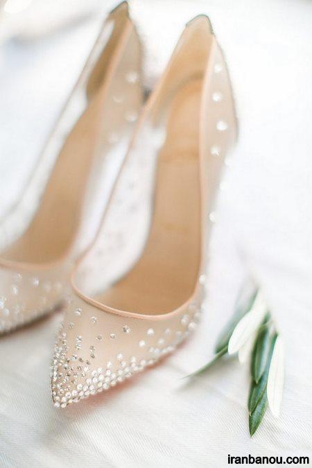 کفش عروس پاشنه کوتاه