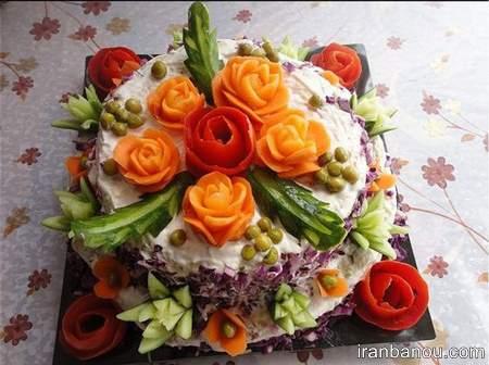 تزیین سالاد الویه برای مهمانی