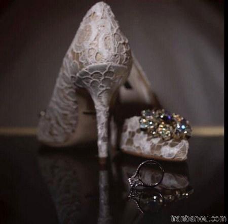 کفش پارچه ای عروس