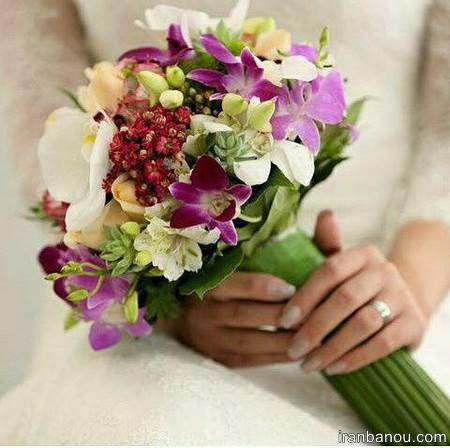 دسته گل توپی عروس