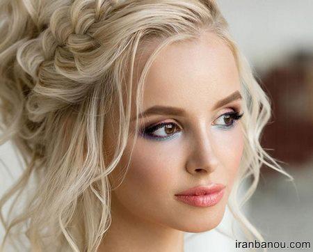مدل موی عروس با تاج و تور