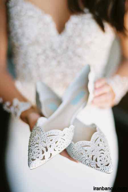 کفش عروس پاشنه تخت
