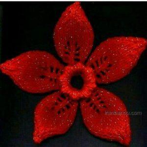 بافت گل با کاموا