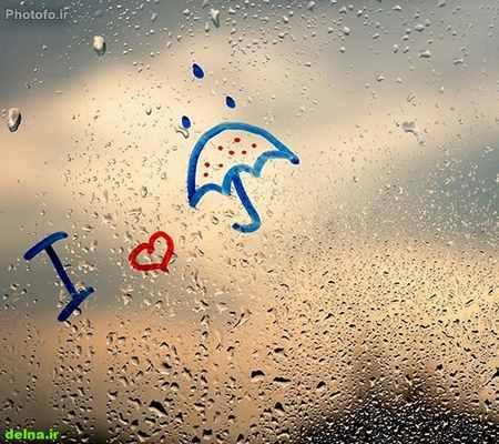 عکس باران بهاری