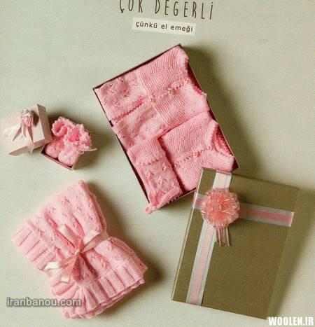 آموزش بافت لباس نوزاد دخترانه