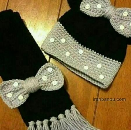 شال و کلاه دخترانه